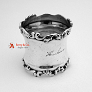 Fancy Scroll Edged Napkin Ring Sterling Silver