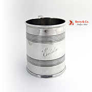 Cup Mug Colonial Trankard Style Silver England 1896