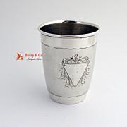 Austrian Beaker Triangular Engravings Silver 1920