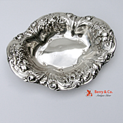 Serving Bowl Sterling Silver Floral Fruit Gorham 1901