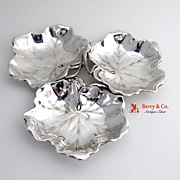 Sectional Dish Leaves  Sterling Silver Reed and Barton 1940