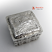Box Live Stock Sterling Silver Dutch 1899