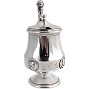 Medallion Mustard Pot Sterling Silver Gorham 1870