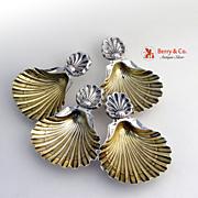 Salt Cellars Austrian Silver Shell 4 Pieces 1890