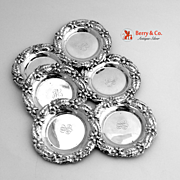 Orange Blossom Dishes Sterling Silver Alvin 6 Pieces