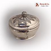 Sugar Box Lock Key German 12 Loth Silver 1870