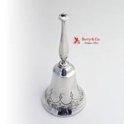 Dinner Bell Floral Sterling Silver Wallace 1900