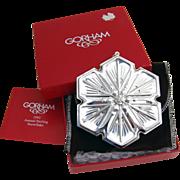 Christmas Snowflake Ornament Gorham Sterling Silver 1992