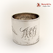 Aesthetic Napkin Ring Sterling Silver 1880