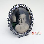 SOLD Oval Picture Frame Sterling Silver 1900