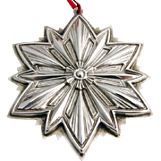 Christmas Ornament Snowflake Sterling Silver Gorham 1993