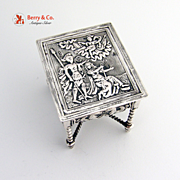 Dutch Sterling Silver Miniature Table 1900