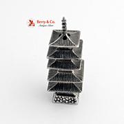 Sterling Silver Miniature Pagoda Shaker 1930