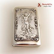 Art Nouveau Cigarette Case Sterling Silver 1900