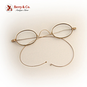 14k Gold Spectacles Reading Glasses 1870 Wire Frame
