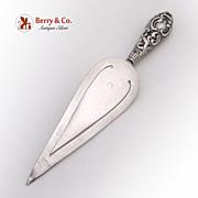 Trowel Bookmark Ornate 1901 Birmingham Sterling Silver