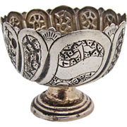 Persian Open Salt Dish 1860 Sterling Silver
