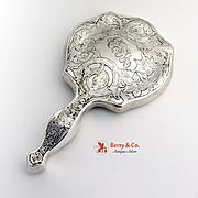 Hand Mirror Acid Etched Webster 1910 Sterling Silver