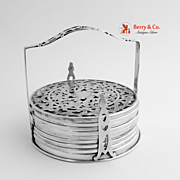 SOLD Eight Overlay Individual Coasters Webster Sterling Silver