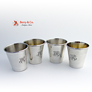 Shot Cups Set of Four William Kerr Sterling Silver