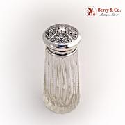SOLD Sugar Caster Cut Crystal Sterling Silver 1900