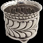 Tiffany Open Salt Dish Scroll Wave Edge Sterling Silver