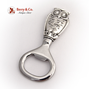 Owl Bottle Opener Gorham Sterling Silver
