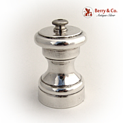 SOLD Pepper Grinder 1930 Sterling Silver Italy