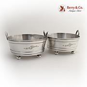Bucket Form Salt Dishes 1880 Gorham Silverplated