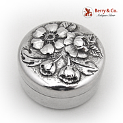 Art Nouveau Pill Box Gorham 1890 Sterling Silver