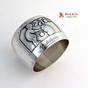 Little Boy Napkin Ring 1920 Silverplated
