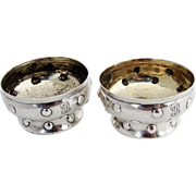 Tiffany And Co Open Salt Cellars Dishes Sterling Silver 1890