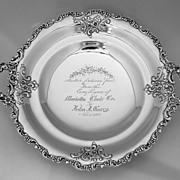 Presentation Floral Bowl 1892 Dominick & Haff Sterling Silver