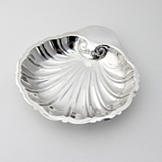 Shell Form Small Serving Dish Sterling Silver Revere Silver 1940