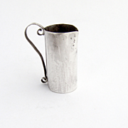 Miniature Hand Made Water Pitcher Sterling Silver