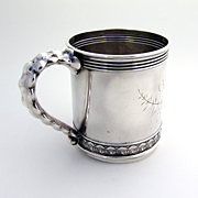 Aesthetic Bright Cut Cup Gorham Sterling Silver