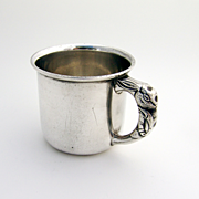 Rabbit Handle Baby Cup Saart Sterling Silver