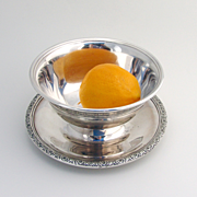 Prelude Mayonnaise Bowl Attached Underplate Sterling Silver International 1939