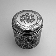 Tiffany Lidded Dresser Jar Sterling Silver 1890