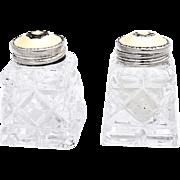 Norwegian Salt and Pepper Shakers Sterling Silver Enamel