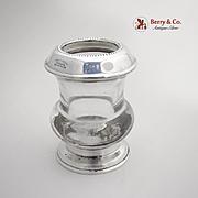 Sterling Silver Glass Bud Vase or Cigarette Holder F. Whiting  1930