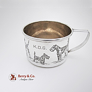 Dogs Baby Cup Sterling Silver H R Moors 1935