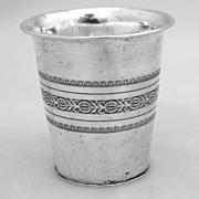 Hamburg Beaker Johann Brahmfield 800 Silver 1830