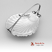 Shell Form Footed Serving Dish Sterling Silver 1930