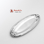 Shell And Thread Oval Pin Tray Sterling Silver 1920