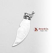 Peruvian Llama Bookmark Letter Opener Sterling Silver 1960