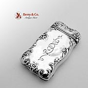 SOLD Art Nouveau Match Safe Sterling Silver Towle 1897