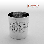 Embossed Cup Italian Sterling Silver 1960