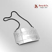 Concorde Bourbon Bottle Tag Sterling Silver British Airways 1986