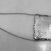 Calling Card Case American Coin Silver 1850